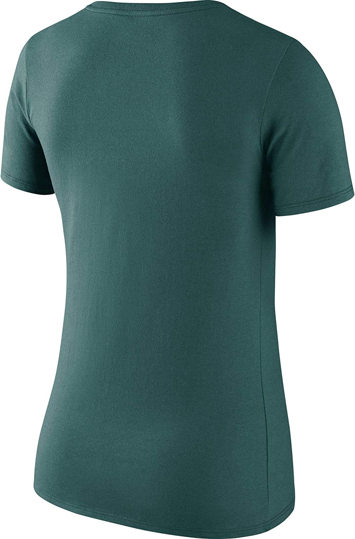 Nike Womens Philadelphia Eagles Logo Scoop Neck Teal T-Shirt