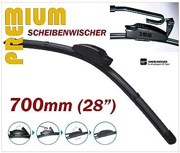 Premium Limpiaparabrisas – Aero para limpiaparabrisas – 700 mm 70 cm 28 delantero * *