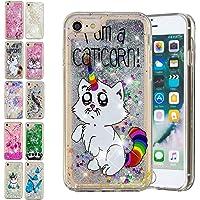 E-Mandala Coque iPhone 5 5S Se Paillette Housse Etui Liquide Glitter Transparente avec Motif