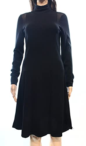 Lauren Ralph Lauren Womens Rouched Sleeveless Cocktail Dress Black S