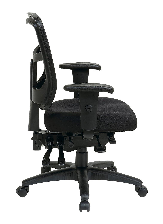 amazon com office star mid back progrid back freeflex seat with