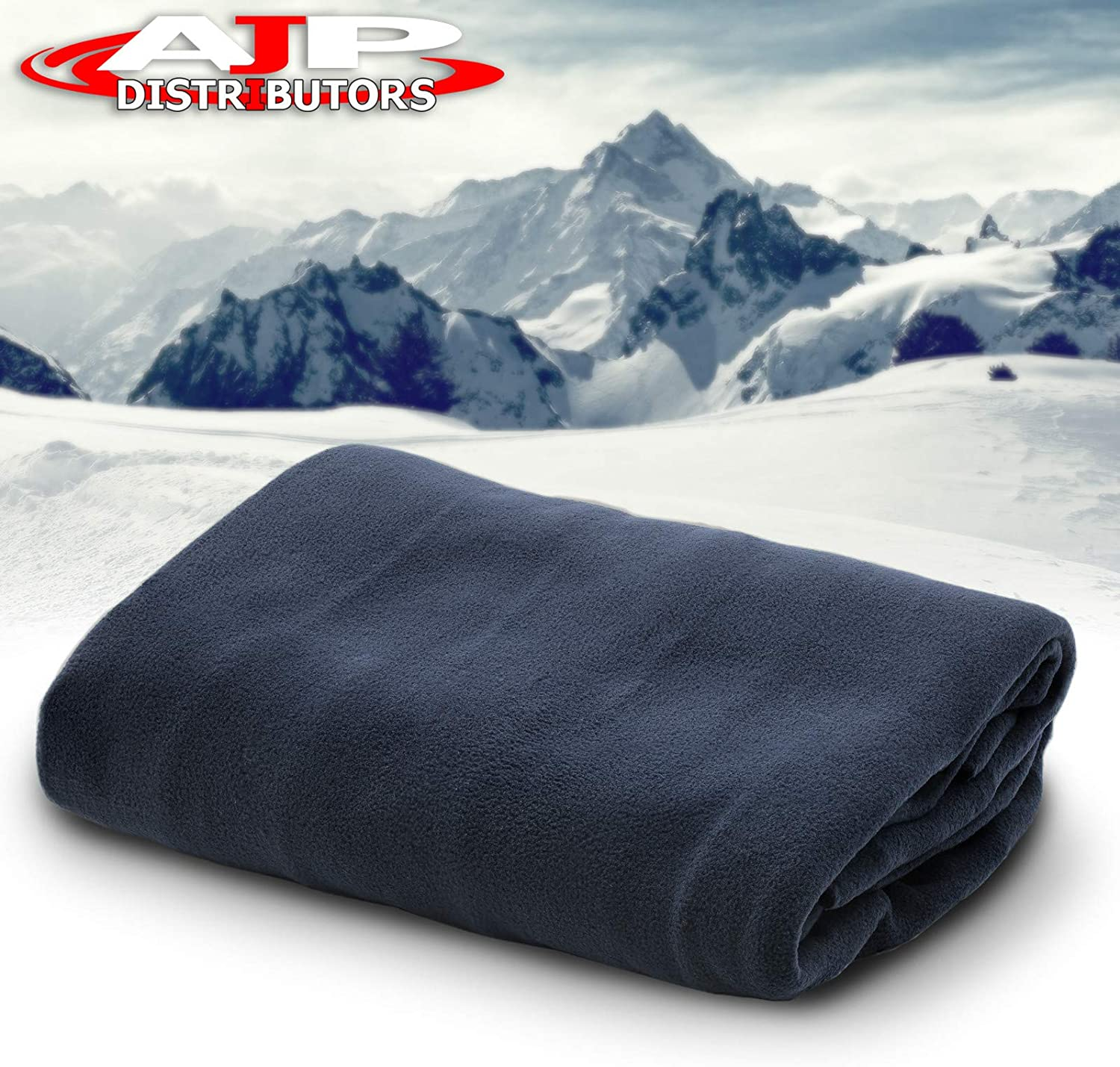 Anti-Flammable Material AJP Distributors 12V Car Truck Heated Blanket Electric Fleece Travel Heating Seat Blanket Throw Automotive Vehicle Road Travel Trip RV Soft Polar Fleece Winter Cold Weather