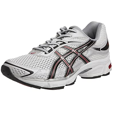 ffc76fc15b Asics Men's Gel Stratus Running Shoe White/Silver/Red T9A1N/0191 10 ...