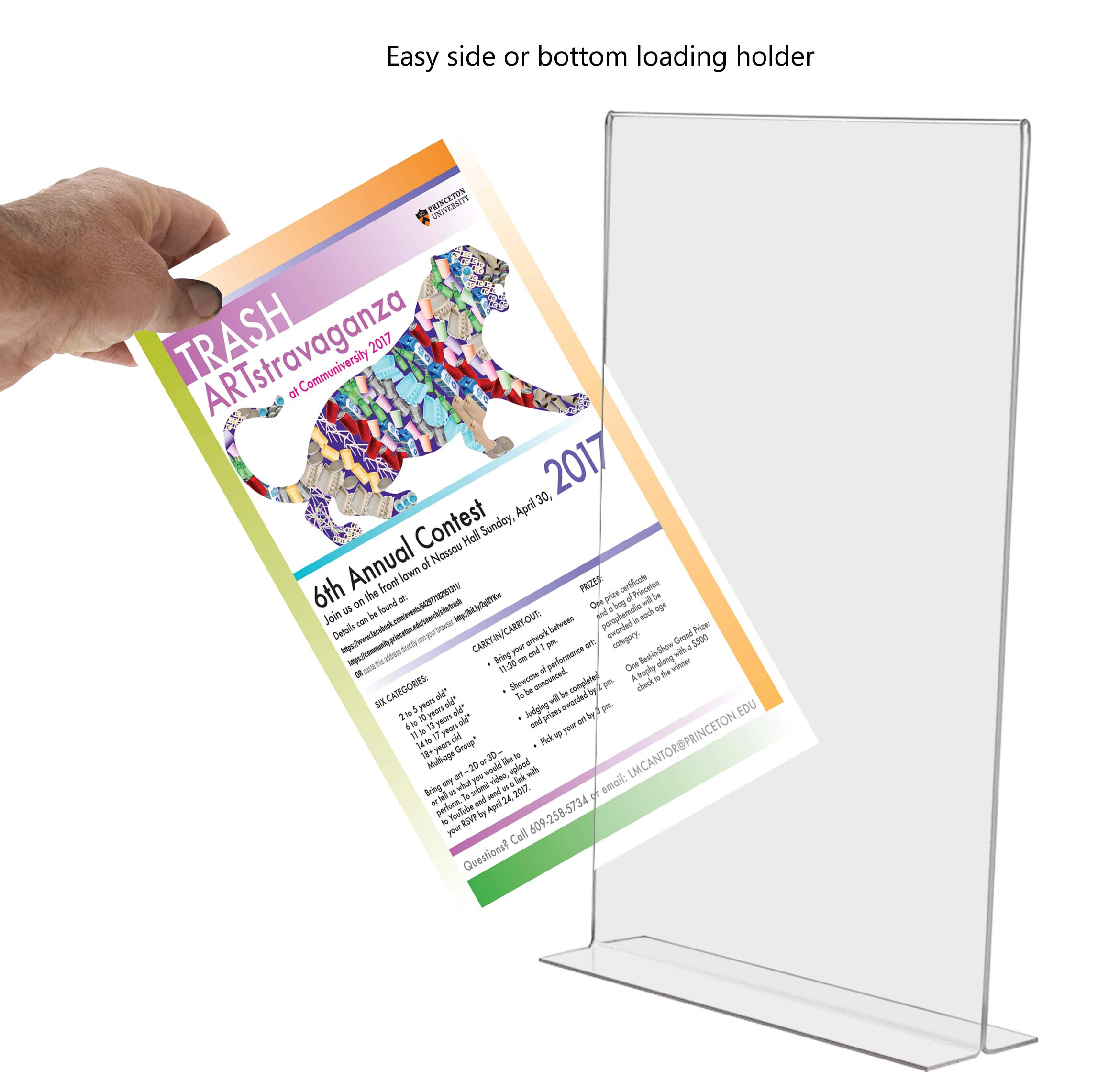Marketing Holders Literature Flyer Poster Frame Letter Notice Menu Pricing Deli Table Tent Countertop Expo Event Sign Holder Display Stand Double Sided Bottom Loading 11''w x 17''h Pack of 4 by Marketing Holders (Image #4)