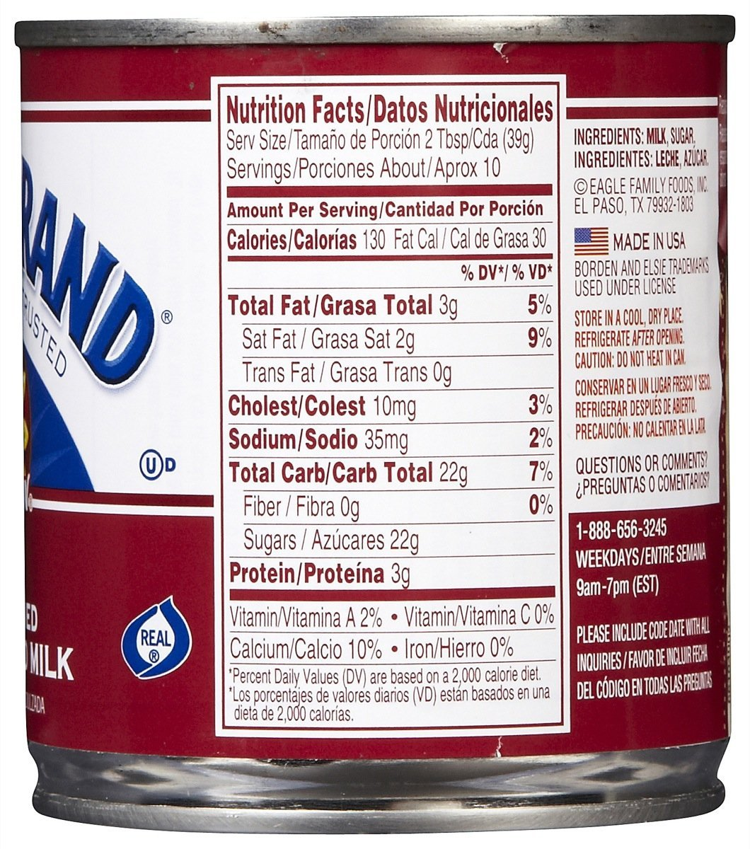 Amazon.com : Eagle Brand Sweetened Condensed Milk - 14 oz - 3 pk : Grocery & Gourmet Food