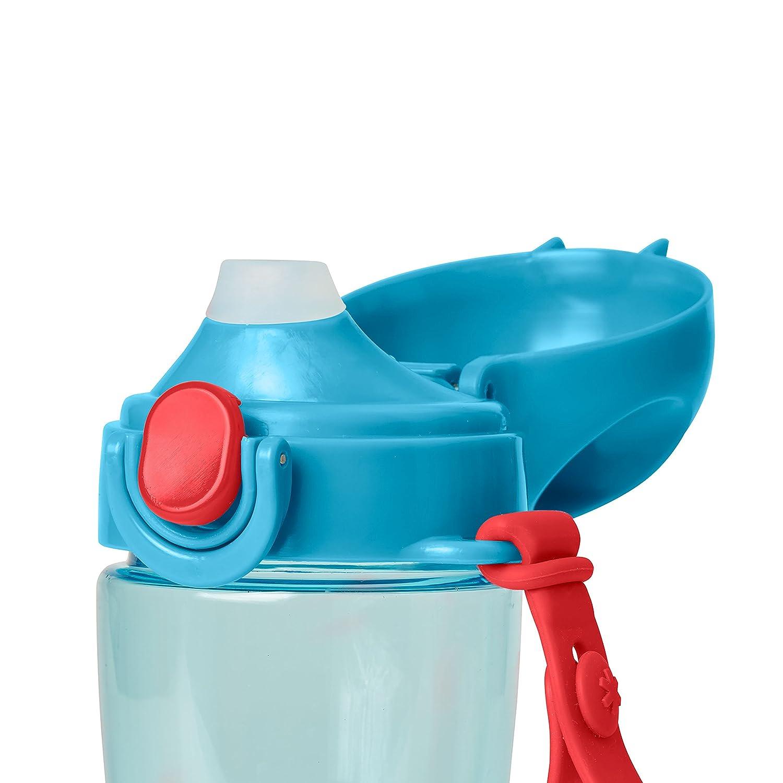 con pajita de silicona Skip Hop Zoo Lock Top Deportes botella para ni/ños multicolor multicolor Dise/ño de perro