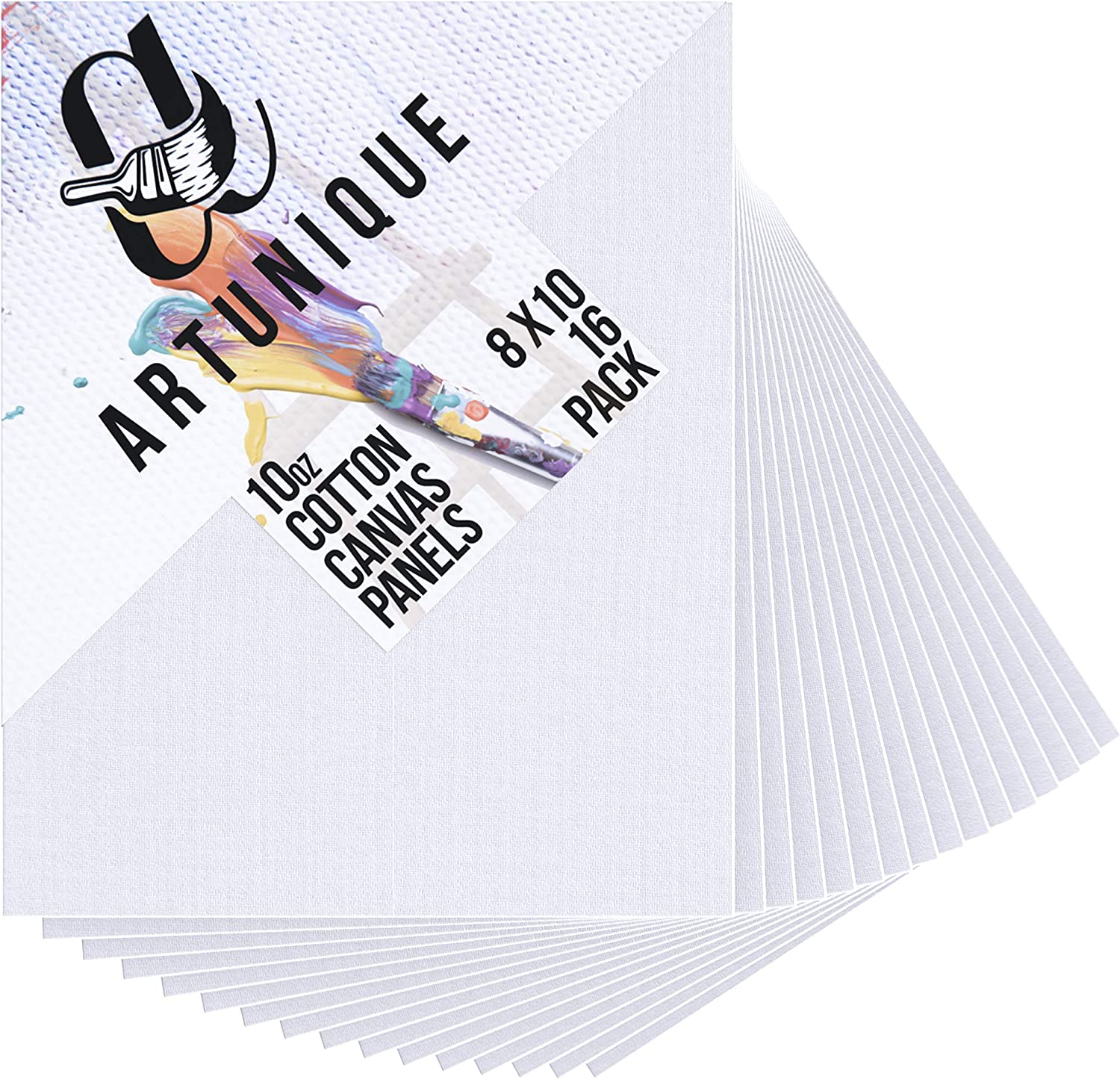 Artist Canvases Boards for Painting 8 inch x 10 inch Canvas Panels 12 Pack