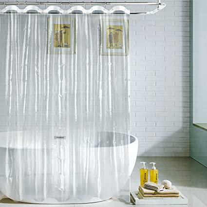 Feagar PEVA Shower Curtain Liner Mildew Mold Resistant PVC Free Anti Bacterial Non Toxic