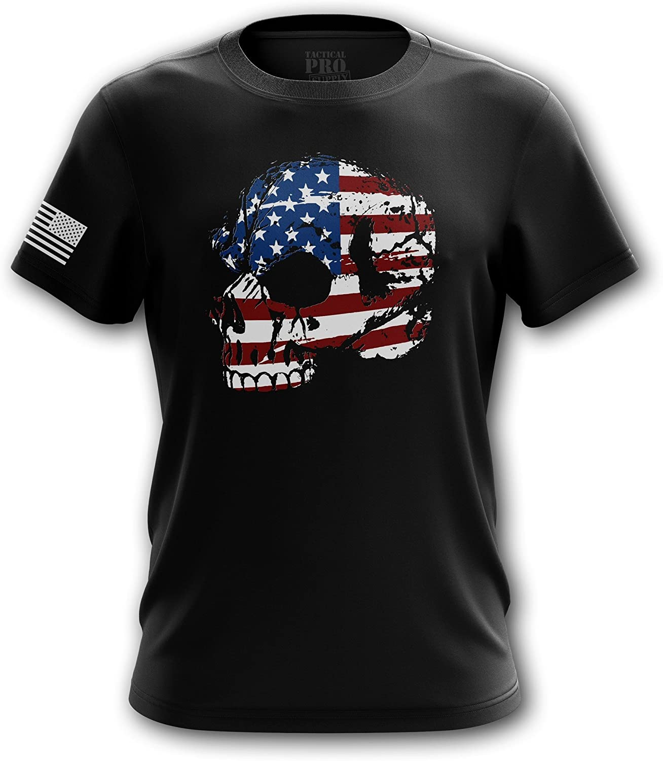 Tactical Pro Supply American Flag Skull T Shirt