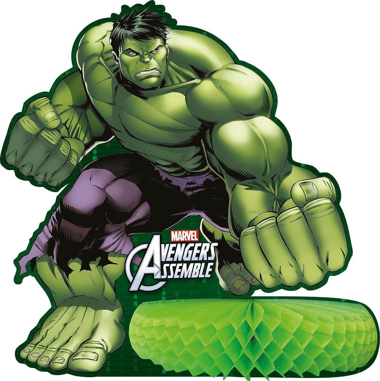 Amazon.com: Unique Party Marvel Avengers Assemble Vela de ...