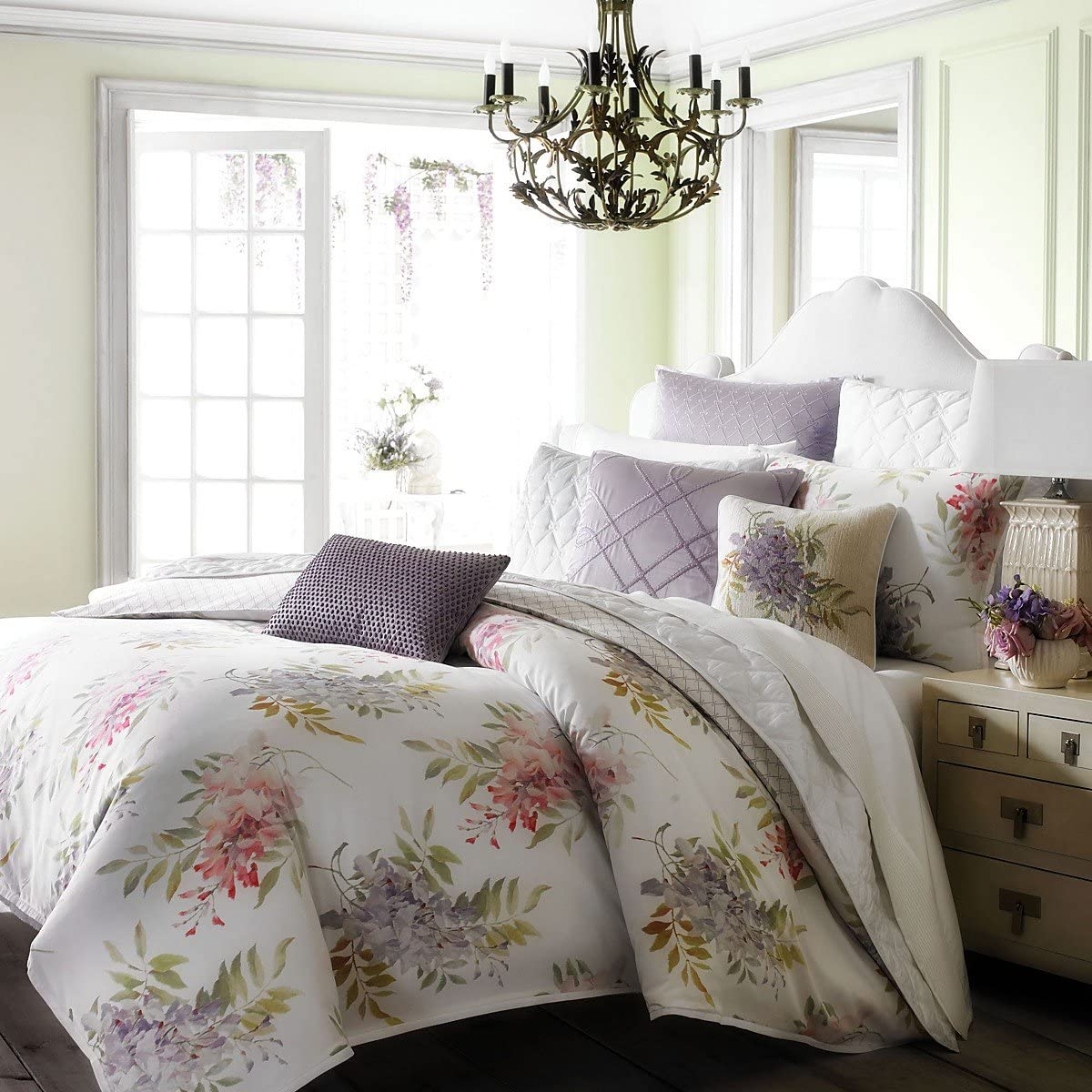 "Bloomingdale/'s 1872 Euro Pillowsham Wisteria 26/""x26/"" Cotton Poly"