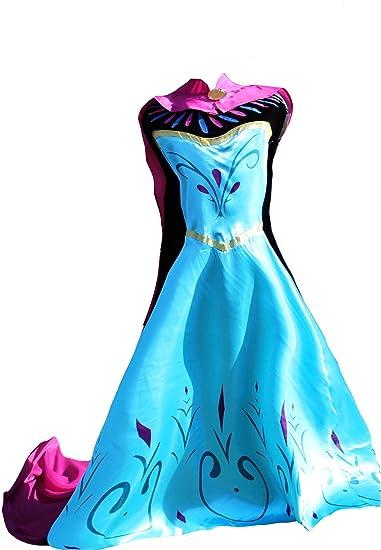 MSC Frozen Frozen Fever Elsa Disfraz Mujer adultos vestido Dress ...