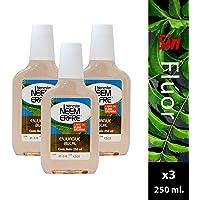 Paquete de 3- Enjuague bucal de Neem sin Flúor 250 ml c/u, Bienestar NEEM ERFRE