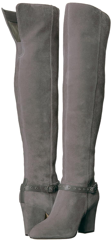 Nine West Women's Sandor Knee High Boot B01NC2Y7UW 9.5 M US Dark Grey Suede