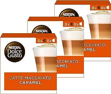 Nescafé Dolce Gusto Caramel Macchiato Koffie Cups - 3 Doosjes Met 16 Capsules