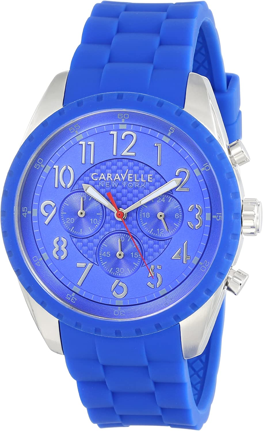 Caravelle New York Men s 43A121 Analog Display Japanese Quartz Blue Watch