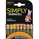 Duracell - Pile Alcaline - AAA x 8 - Simply (LR03)
