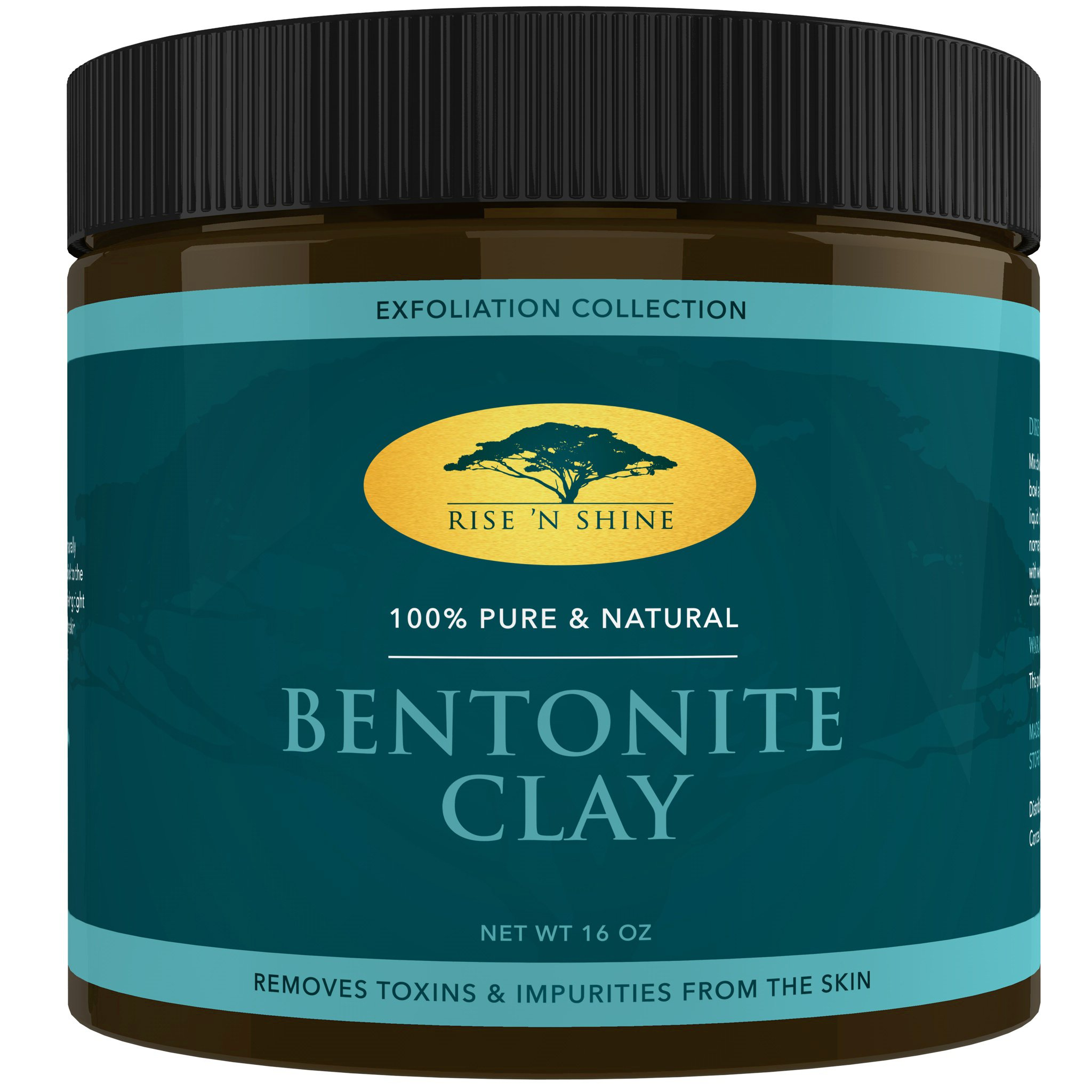 (16 oz) Bentonite Clay Powder - 100% All Natural Face Mask Detox, Skin Pore Cleansing and Rejuvenates Skin and Hair - Helps Acne Psoriasis and Eczema - Pure Sodium Bentonite from Wyoming