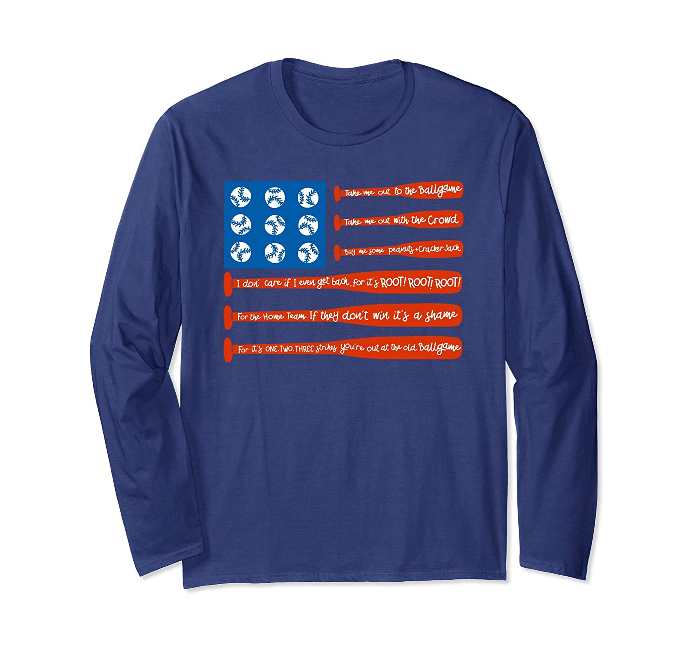 4th of July USA Flag Patriotic Baseball Long Sleeve Shirt-mt