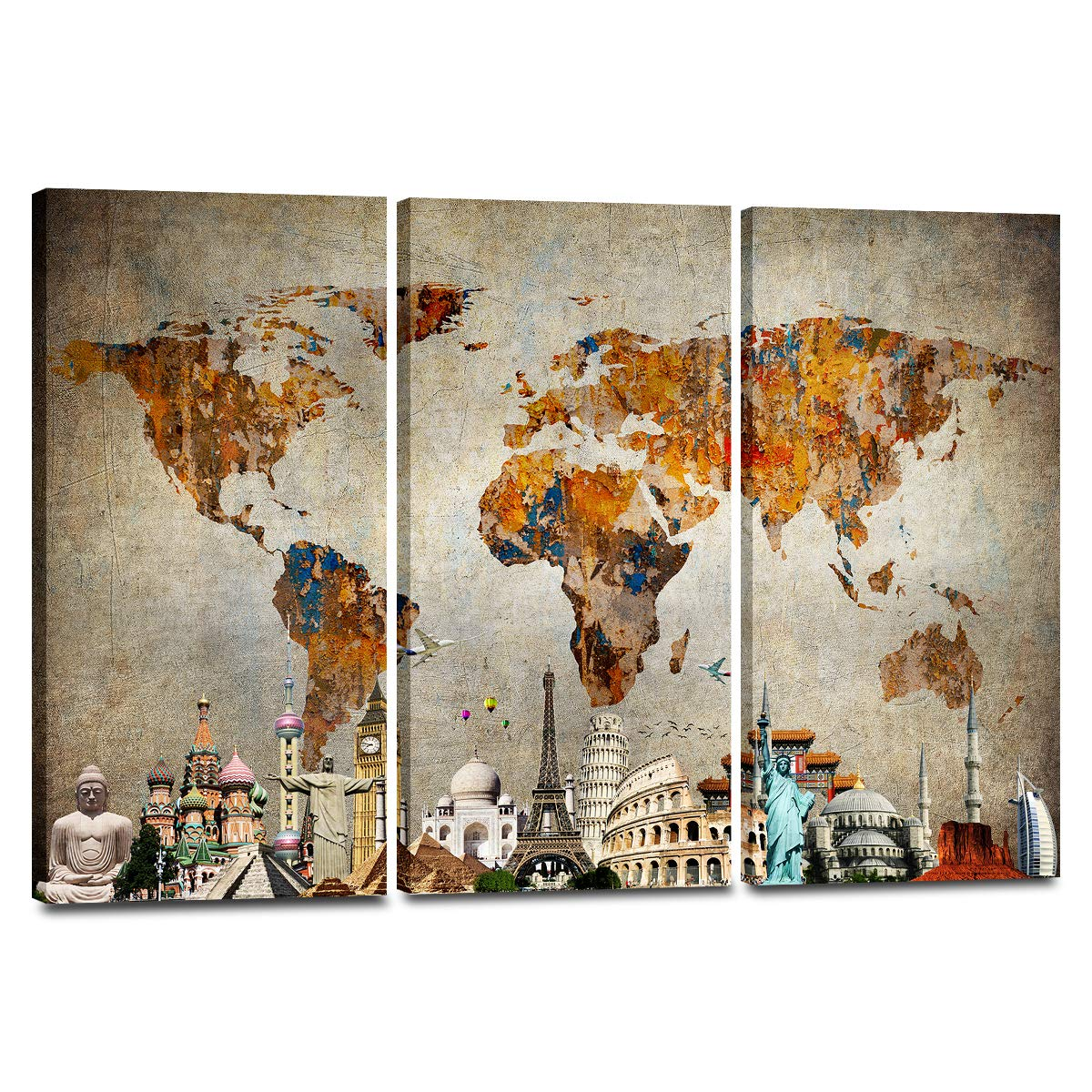 Global Gallery Courtney Prahl Nautical Collage II Canvas Artwork 30 x 30