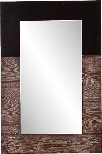 Southern Enterprises Wagars Wood Grain Wall Mirror