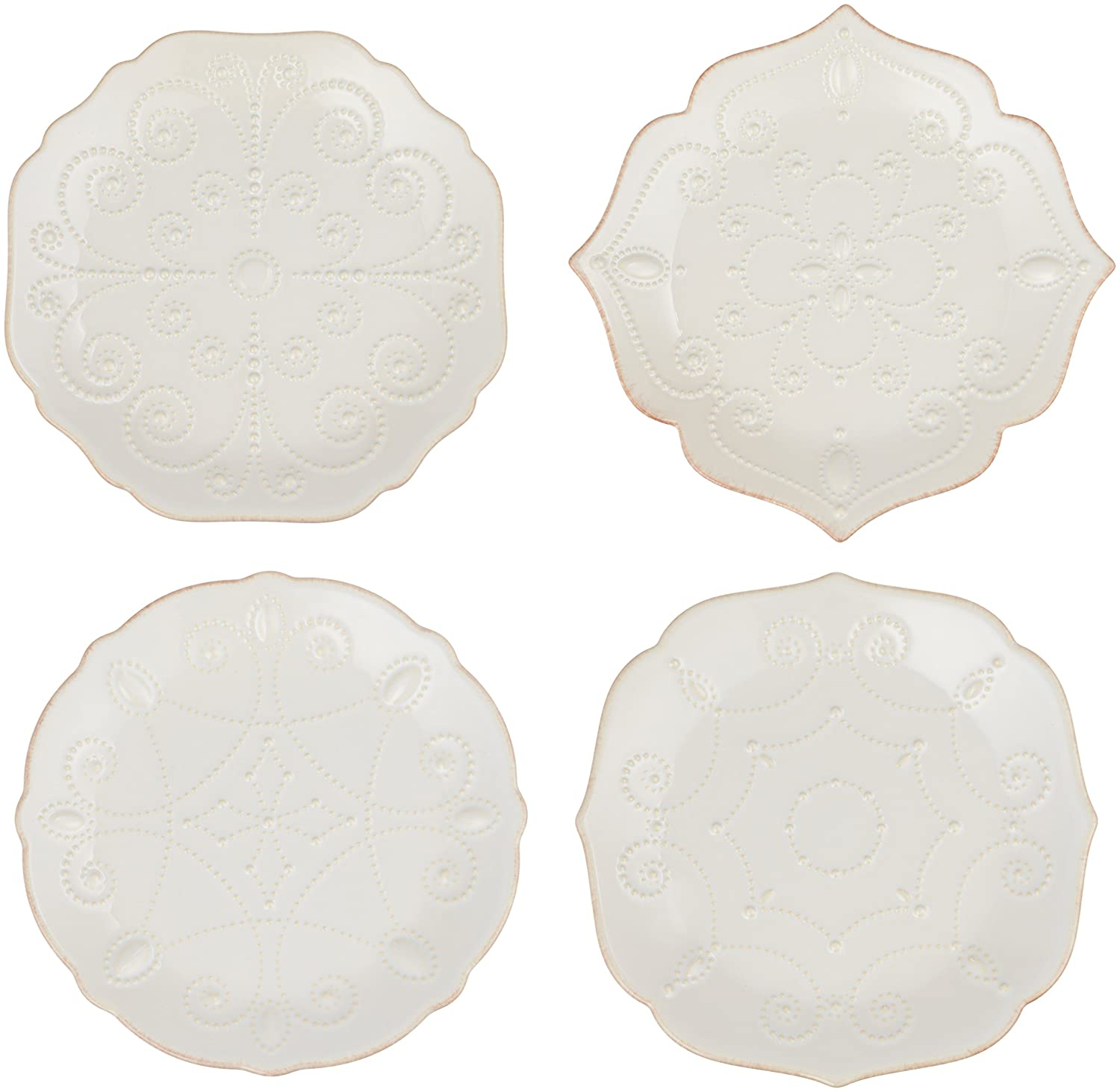 Lenox French Perle Plates Set of 4