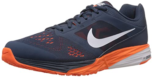 nike men s tri fusion run msl squadron blue white total orange rh amazon ca