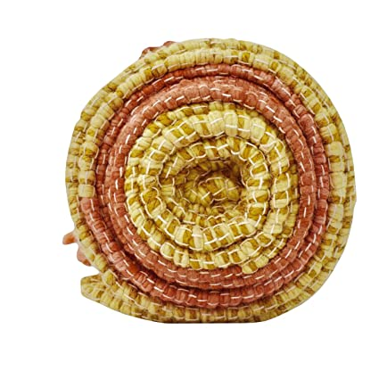 Niraamaya Red Sandalwood Ayurvedic Yoga Mat, GOTS Certifed Organic Cotton & Jute, Ayurvedic Plant Dyes, Eco-Friendly, New Jupiter Mat with Red ...