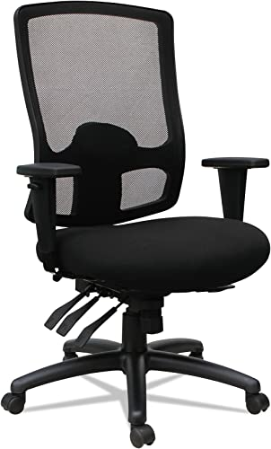 Alera Etros Series High-Back Multifunction with Seat Slide Chair, Black