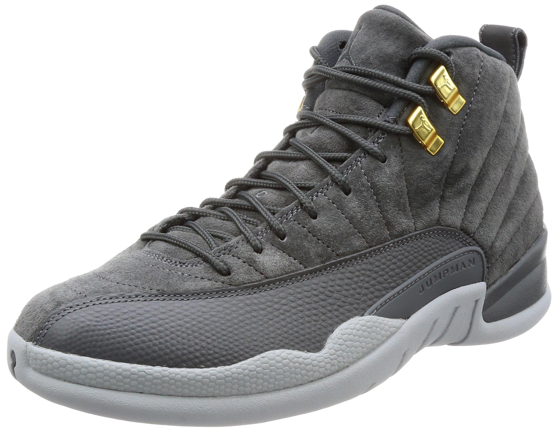 Jordan Men's Air 12 Retro, Dark Grey/Dark Grey-Wolf Grey, 7.5 M US by Jordan