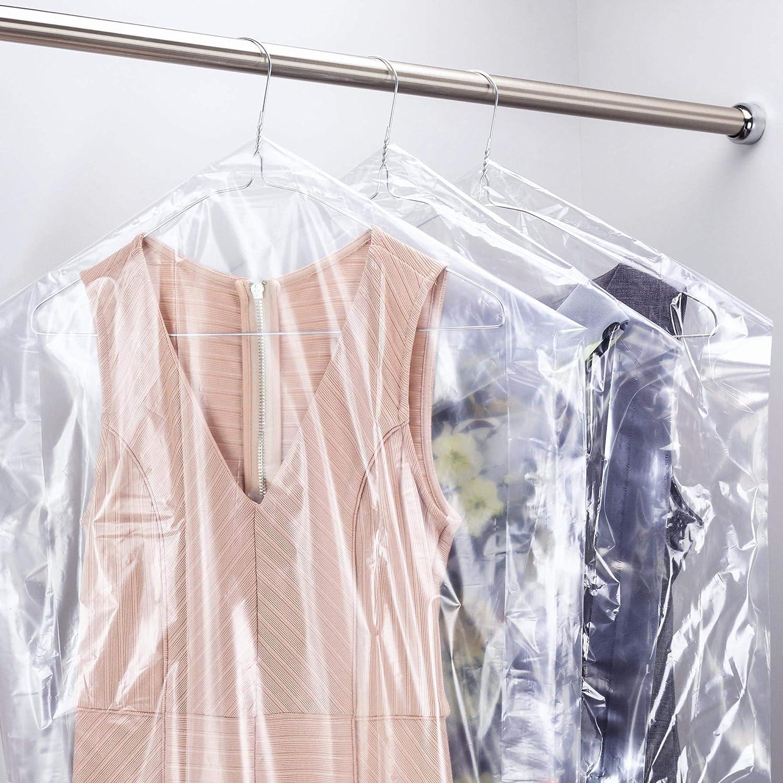 Hangerworld 20 Housses 135cm Transparentes et Imperm/éables en Poly/éthyl/ène pour Pantalons et Jupes en Pressing