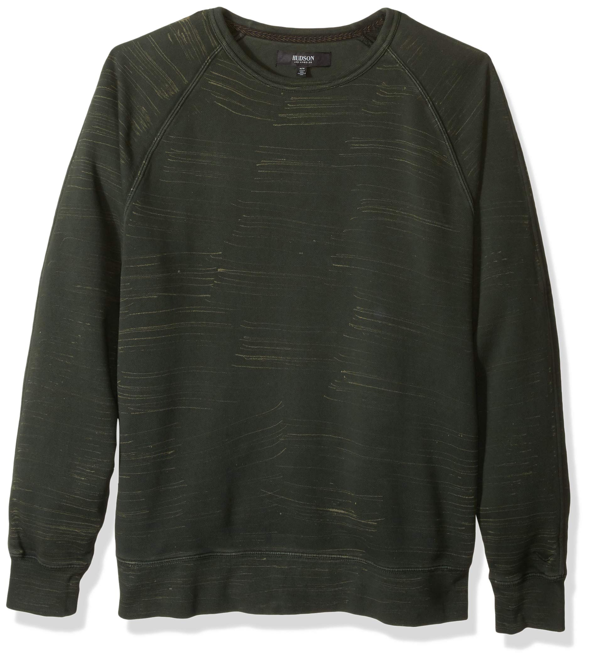 Hudson Jeans Men's Pullover Crewneck Sweater, Pine Marble, M