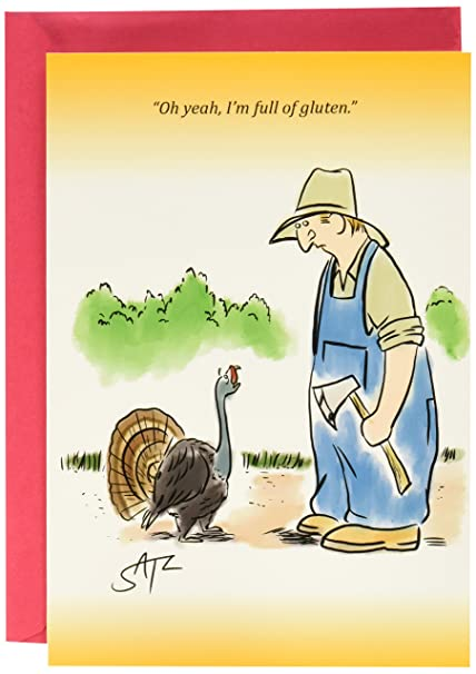 Amazon 1215 full of gluten funny thanksgiving greeting 1215 full of gluten funny thanksgiving greeting card with 5quot x 7quot m4hsunfo