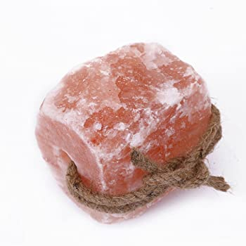 HijiNa Animal Licking Himalayan Pink Salt Lick-100% Natural Pure Salt Block on Rope for Deer