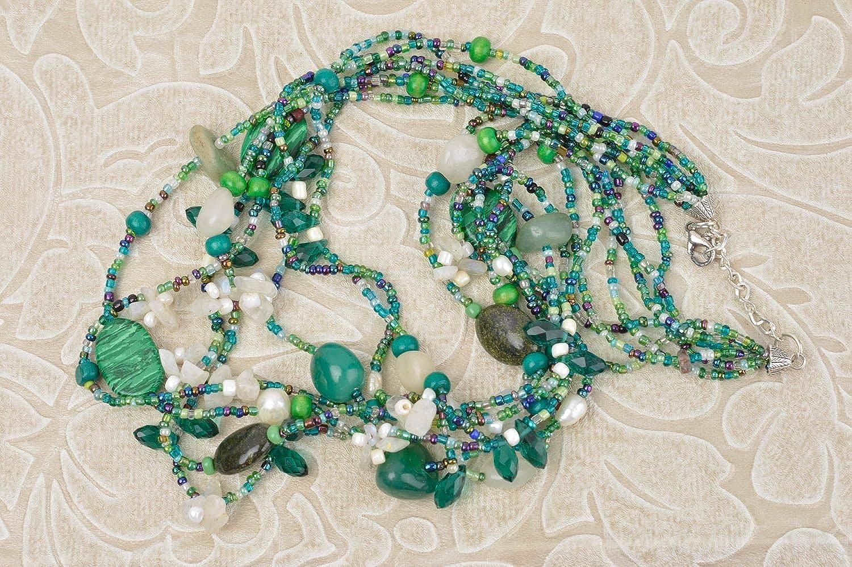 Handmade Beaded Necklace Unusual Designer Necklace Cute Jewelry Present