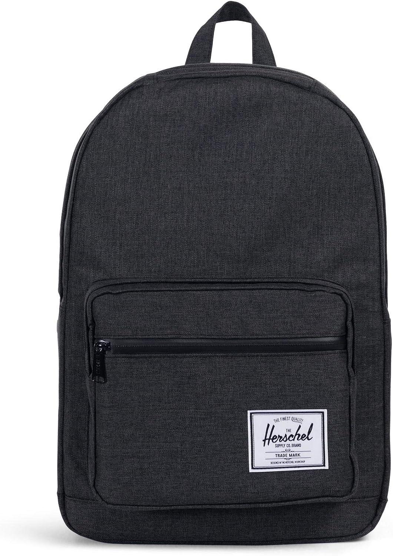 Herschel Pop Quiz Backpack, Black Crosshatch/Black, Classic 22L