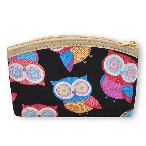 836fef9f4df59 Geldbörse Eule Portemonnaie Kosmetik klein flach Reissverschluss Damen  Kinder Geldbeutel    verschiedene Motive und