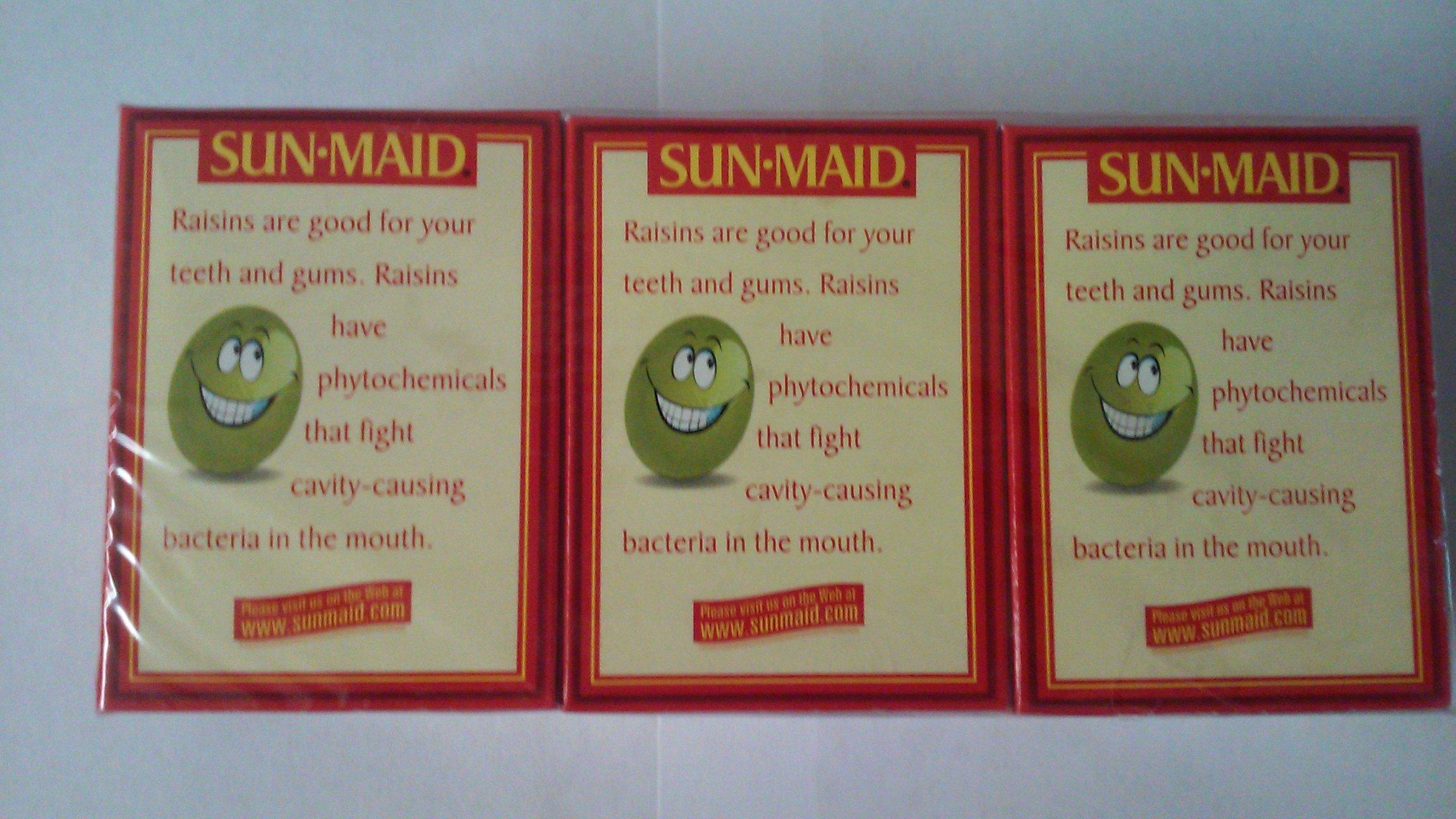 Sun-Maid Raisins 6 Packs of 1.33 Ounce (Pack of 3)