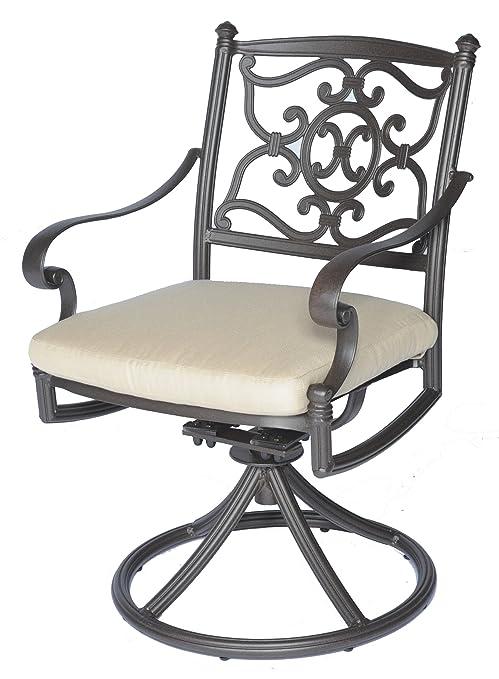 Amazon Com Meadow Decor 2623 45 Kingston Patio Swivel Rocker Chair