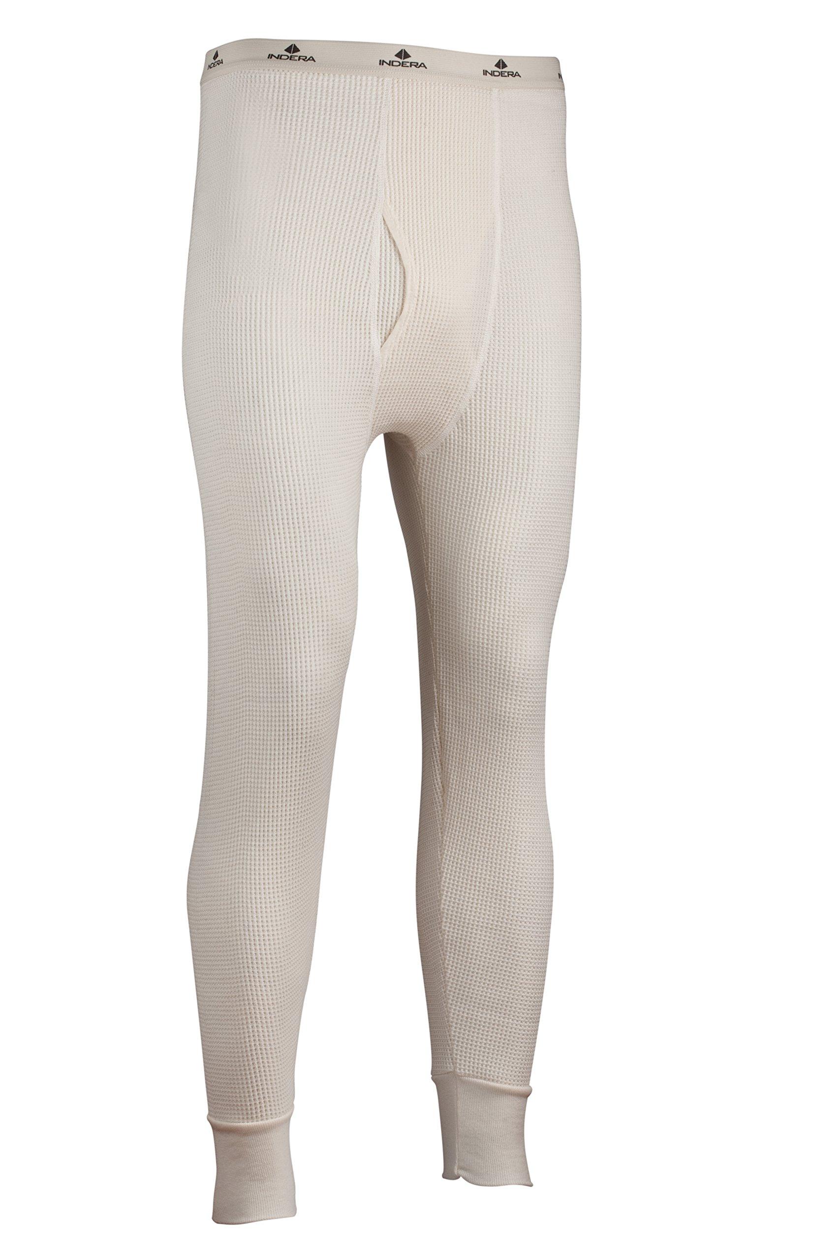 Indera Men's Maximum Weight Thermal Underwear Pant, Natural, 6X-Large by Indera
