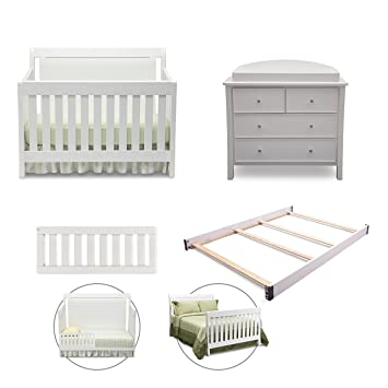 Simmons Kids Broadway 5 Piece White Ambiance Nursery Furniture Set  Including Crib  4 Drawer. Amazon com   Simmons Kids Broadway 5 Piece White Ambiance Nursery
