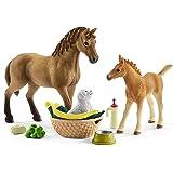 Schleich-42432 Set De Cuidado De Crías De Horse Club Sarah, Multicolor (42432)