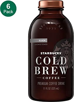 6-Count Starbucks Cold Brew Coffee Black Unsweetened (11 oz Glass Bottles)