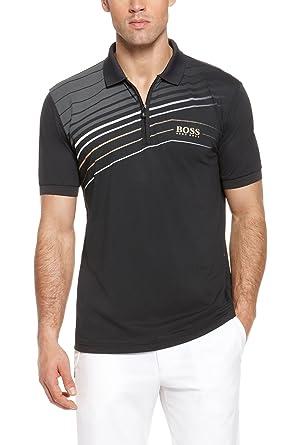 b92014f13 Amazon.com: Hugo Boss Men's Black Pro Prek Half Zip Polo Medium: Clothing