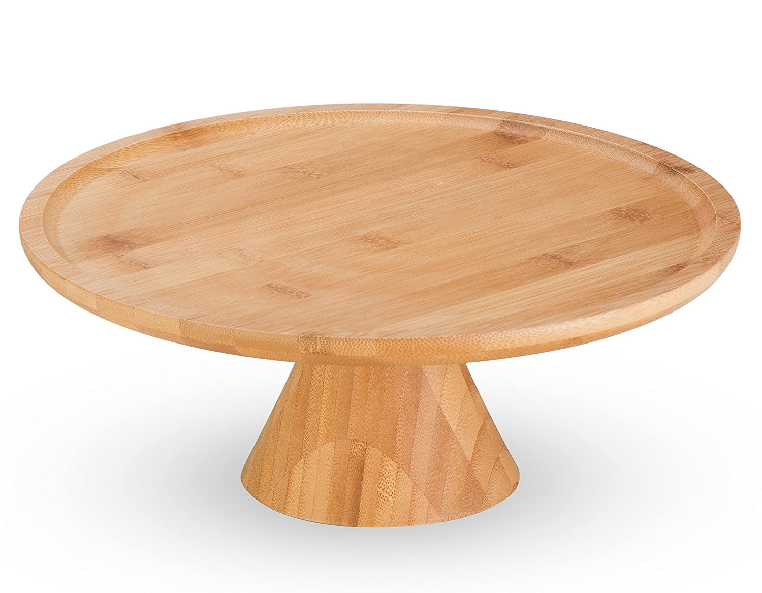 Amazon.com | Natural Bamboo Cake Stand by MosesMo: Dessert Pastry ...