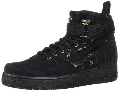 check out 22e71 58e7e Nike Herren SF Air Force 1 Mid 917753-008 Hohe Sneaker, Schwarz (Black