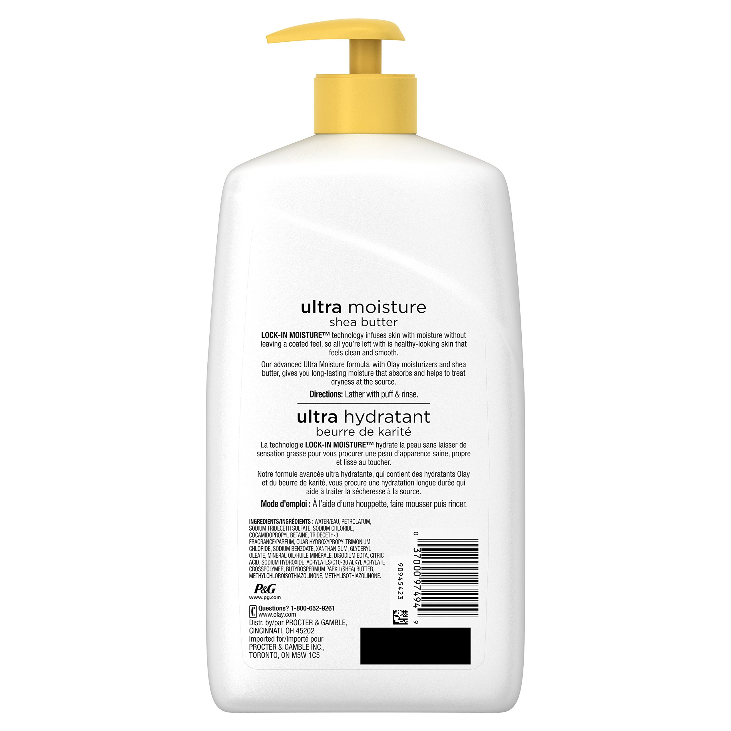 Olay Ultra Moisture Shea Butter Body Wash, 30 Fluid Ounce (Pack of 4) by Olay (Image #2)