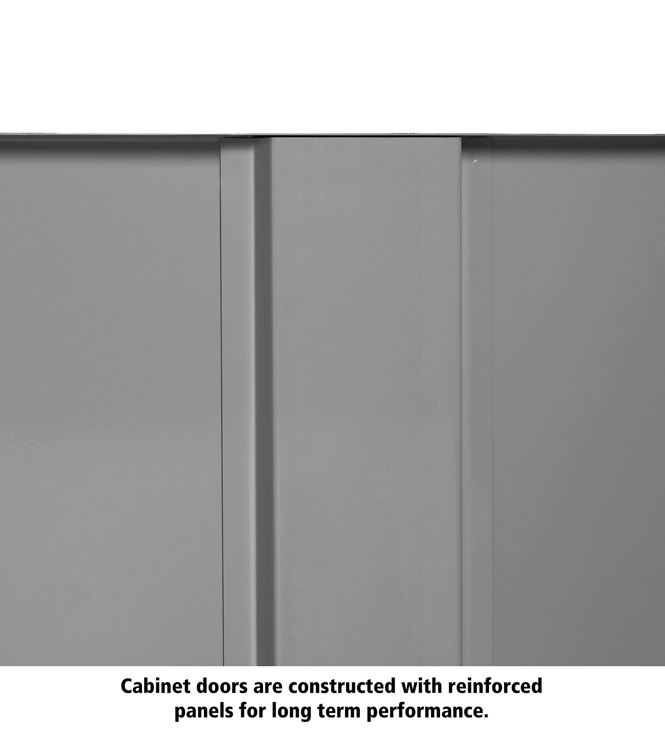 Tennsco 4218 24 Gauge Steel Standard Welded Counter High Cabinet, 2 Shelves, 150 lbs Capacity per Shelf, 36'' Width x 42'' Height x 18'' Depth, Black (Renewed) by Tennsco (Image #4)