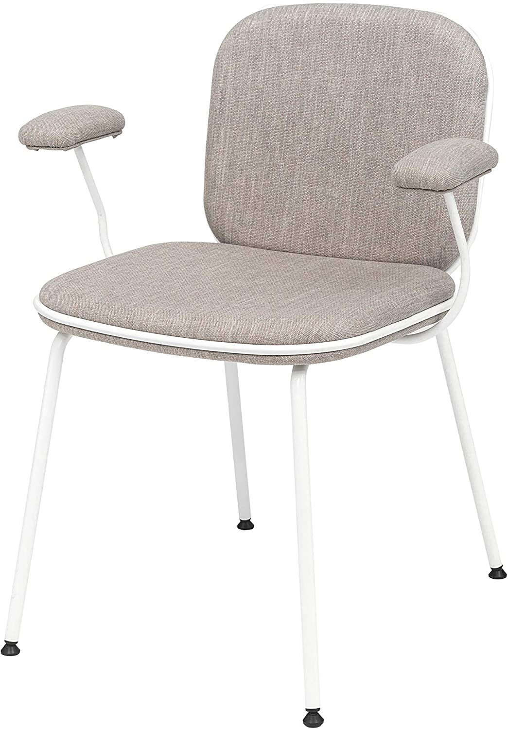 OCHS Toa Armchair with Fabric Upholstered Soft Armrest and Metal Frame for Lounge Office Living and Dining Room