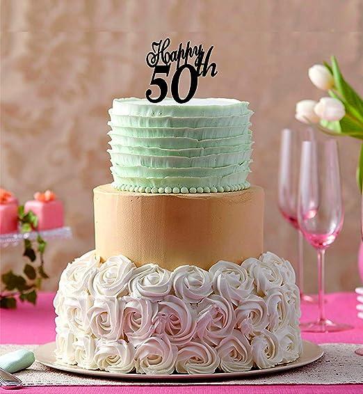 659ParkerRob Happy 50Th Decoración para Tarta de cumpleaños ...